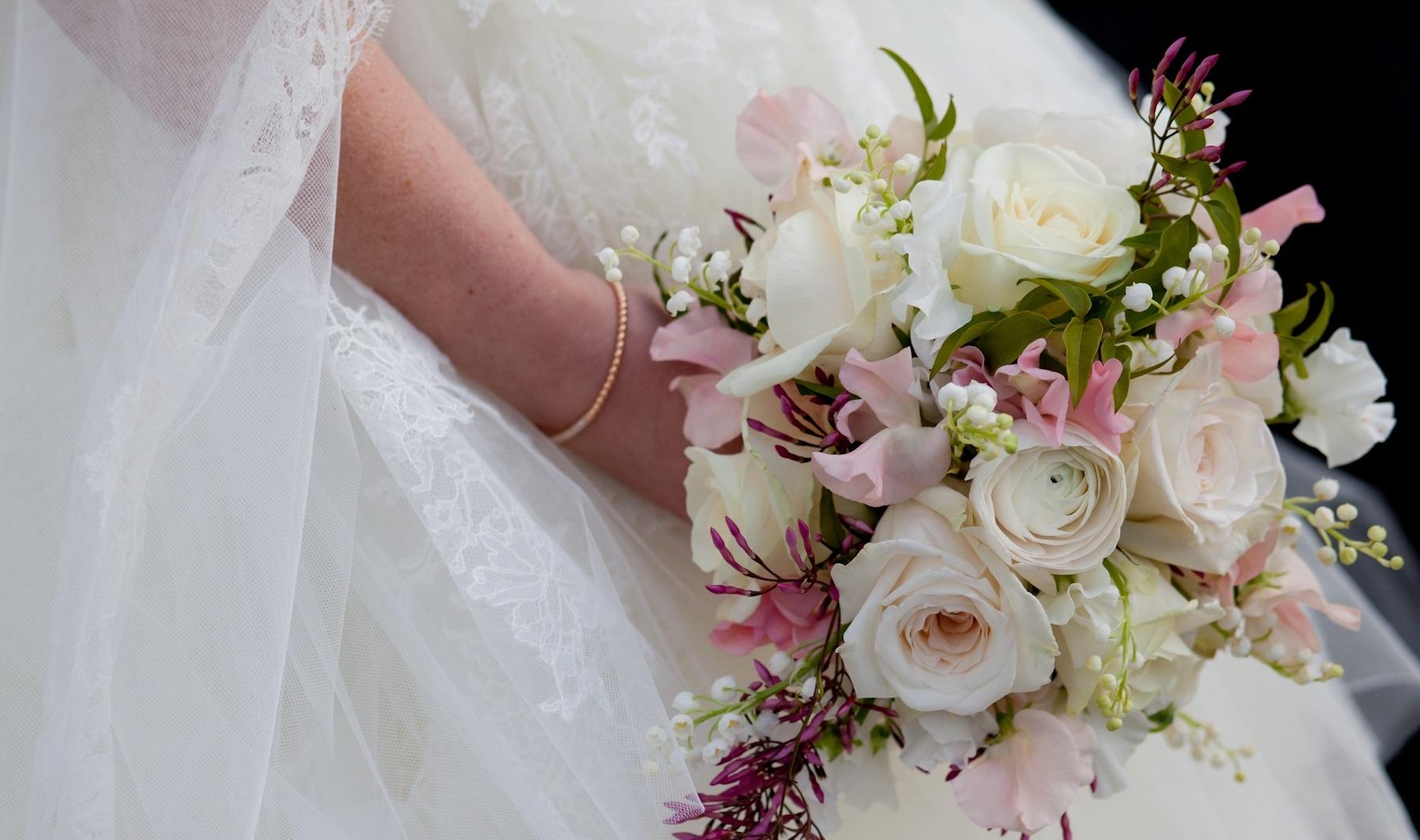 Bruidsboeket pasteltinten
