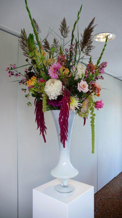 zuildecoratie roze bloemen