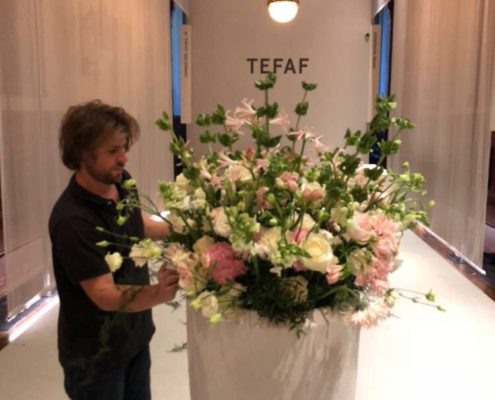 Florale arrangement TEFAF NY Fall 2017