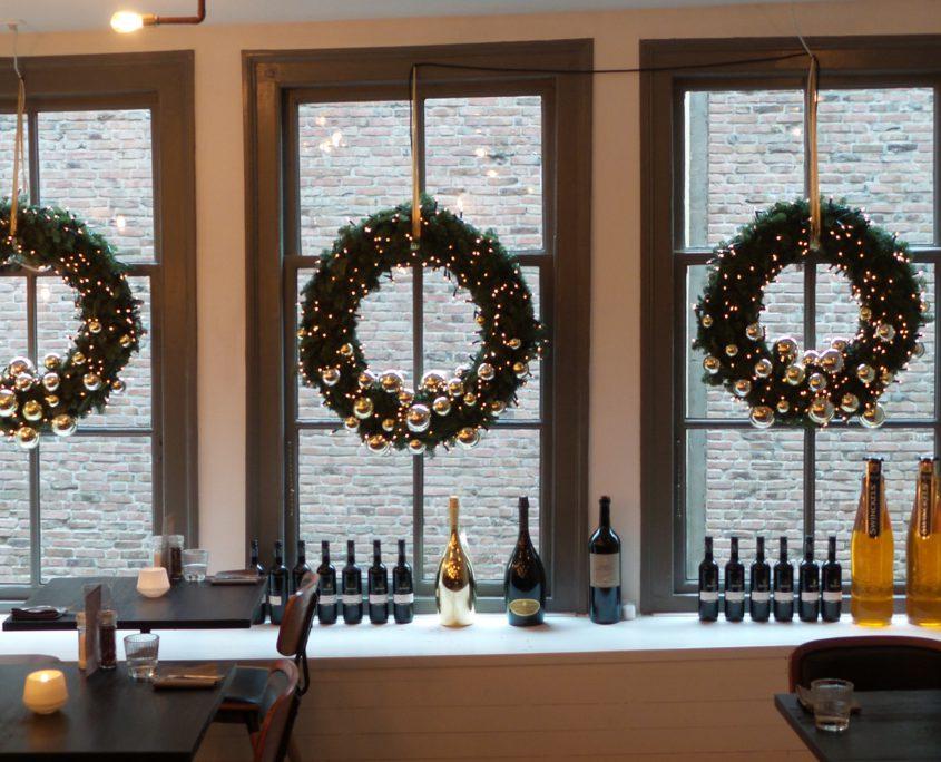 Kerstdecoratie restaurant