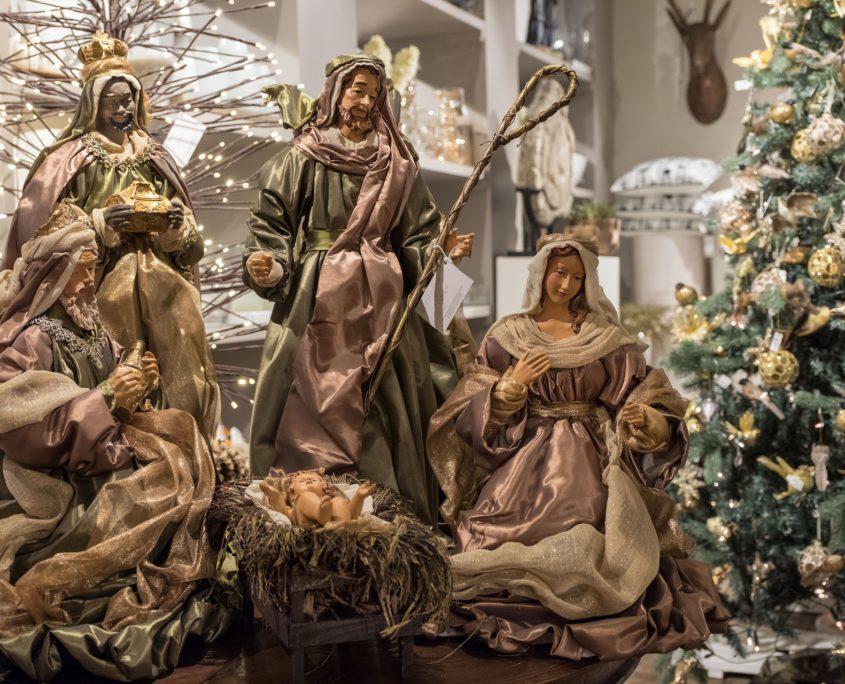 Kerststal kerstdecoratie