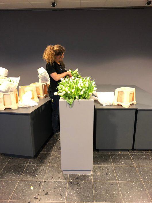 decoratie tulpen tijdens TEFAF