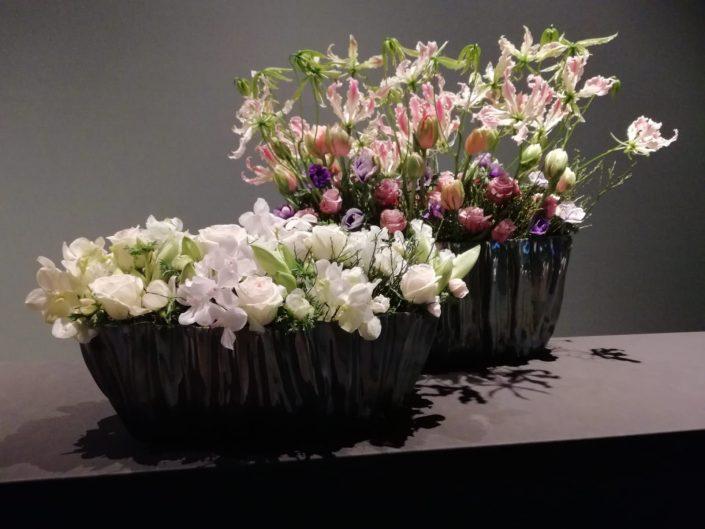 bloemdecoratie in pasteltinten