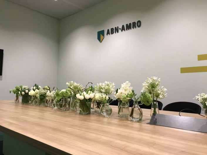 tafeldecoratie, witte bloemen, ABN AMRO World Tennis Tournament, evenement