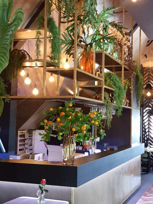 Kantoor decoratie zijde planten