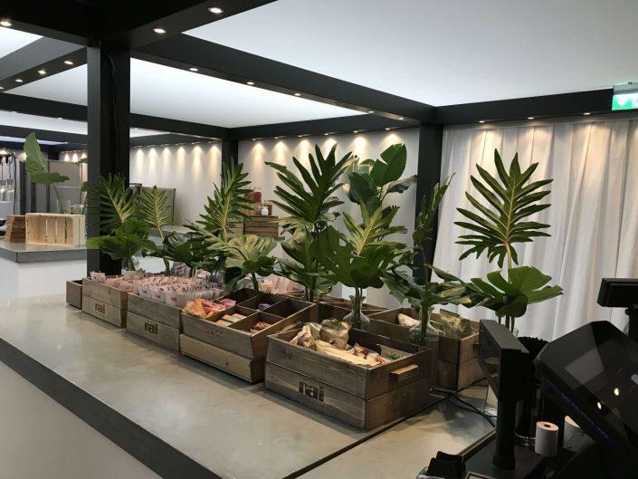 groendecoratie bij buffet, PAN