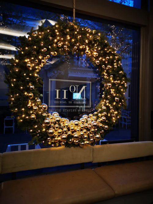 kerstkrans voor raam groot